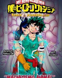 Boku no hero: Midoriya aliviando sua dor na buceta da safada